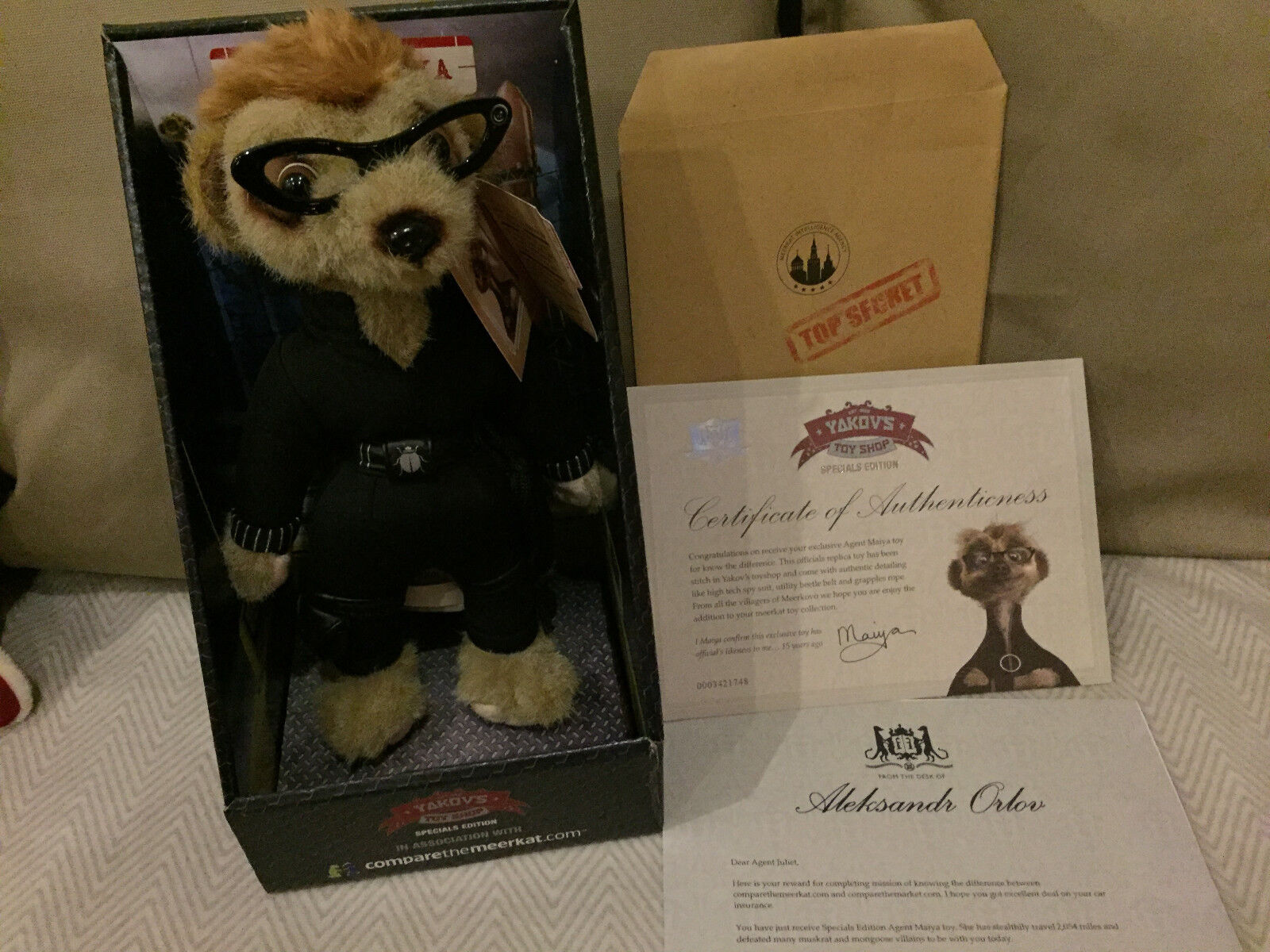 SPECIAL EDITION EDITION EDITION GENUINE AGENT MAIYA COMPARE THE MEERKAT TOY BRAND NEW BOXED a35466
