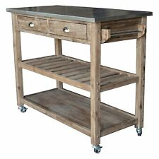 Sauder Original Cottage Mobile Storage Kitchen Island Cart