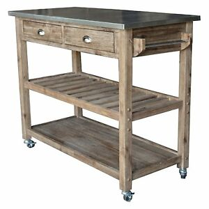 Image is loading Modern-Kitchen-Island-Storage-Cart-Dining-Portable-Wheels-  sc 1 st  eBay & Modern Kitchen Island Storage Cart Dining Portable Wheels Bar Mobile ...