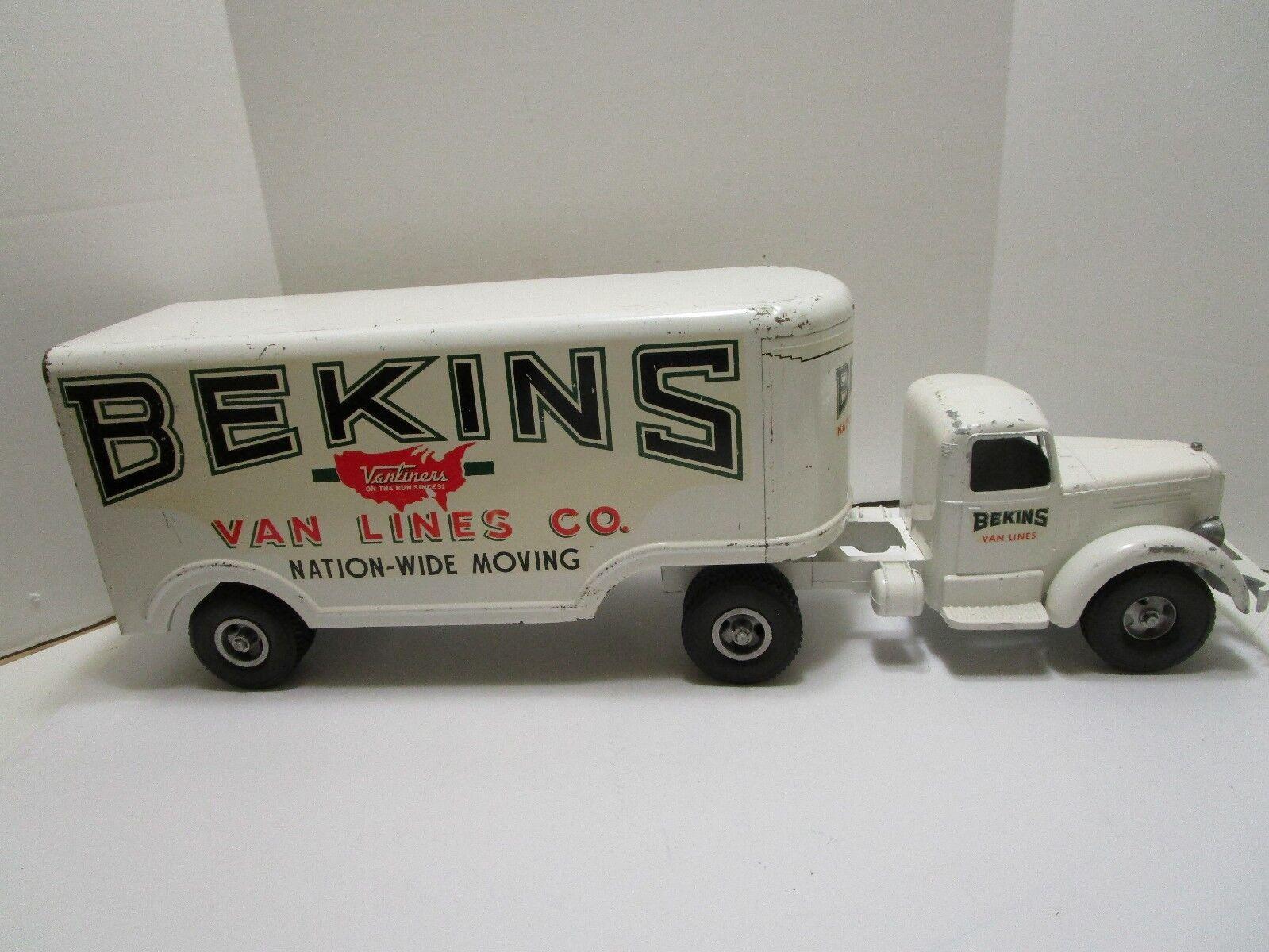Vintage Smith Miller bekins Truck & remolque Conjunto  Buen Estado Original