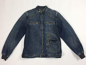 Alcott-jacket-jeans-M-blu-giacca-giubbino-vintage-uomo-retro-bomber-denim-T1426