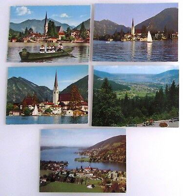 5 X Rottach-egern Postkarten Lot Ansichtskarten Ungelaufen Ak Ab/nach ~1970 Im Sommer KüHl Und Im Winter Warm