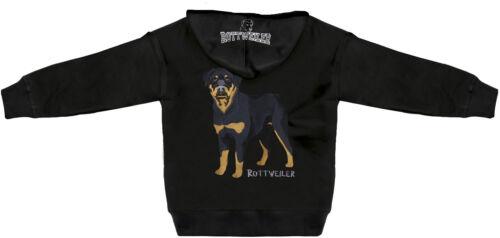 Kapuzenjacke mit großer Einstickung und Aufdruck Hund Rottweiler 132053