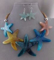 Starfish Ocean Necklace Set Blue Green Fashion Jewelry Fun