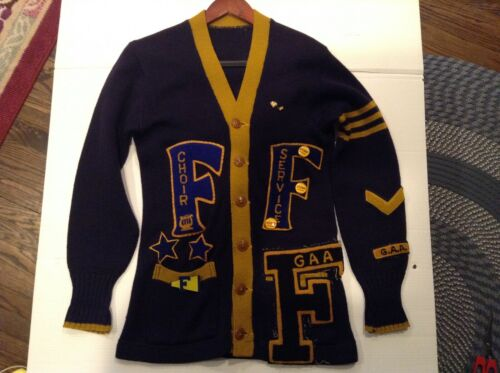 VTG 50's Foreman High School Chicago Varsity Lette