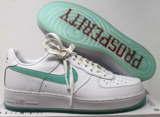 wholesale dealer f3ea3 2f4ef NIKE AIR FORCE 1 LOW ID NBA EDITION WHITE-GREEN 10  AQ9761-991