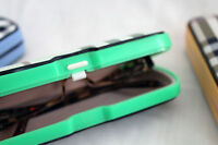 Eyeglass Case, Kids Or Small Frames, Clamshell, Push-button 6.1 X 2.75 X 1.4 In.