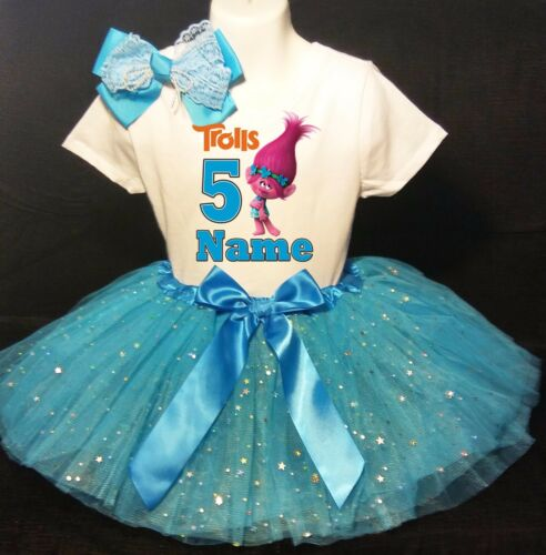 Trolls  5th Birthday -With NAME- Poppy party Tutu outfit