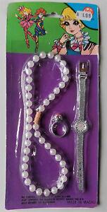Vintage-Jewellery-Set-Girl-1970er-HP-Hans-Postler-Chain-Ring-Watch