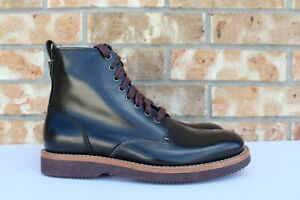Men's Coach Derby Lace Up Black Spazzolato Leather Boots Size 9 D G17/106  817961020257   eBay