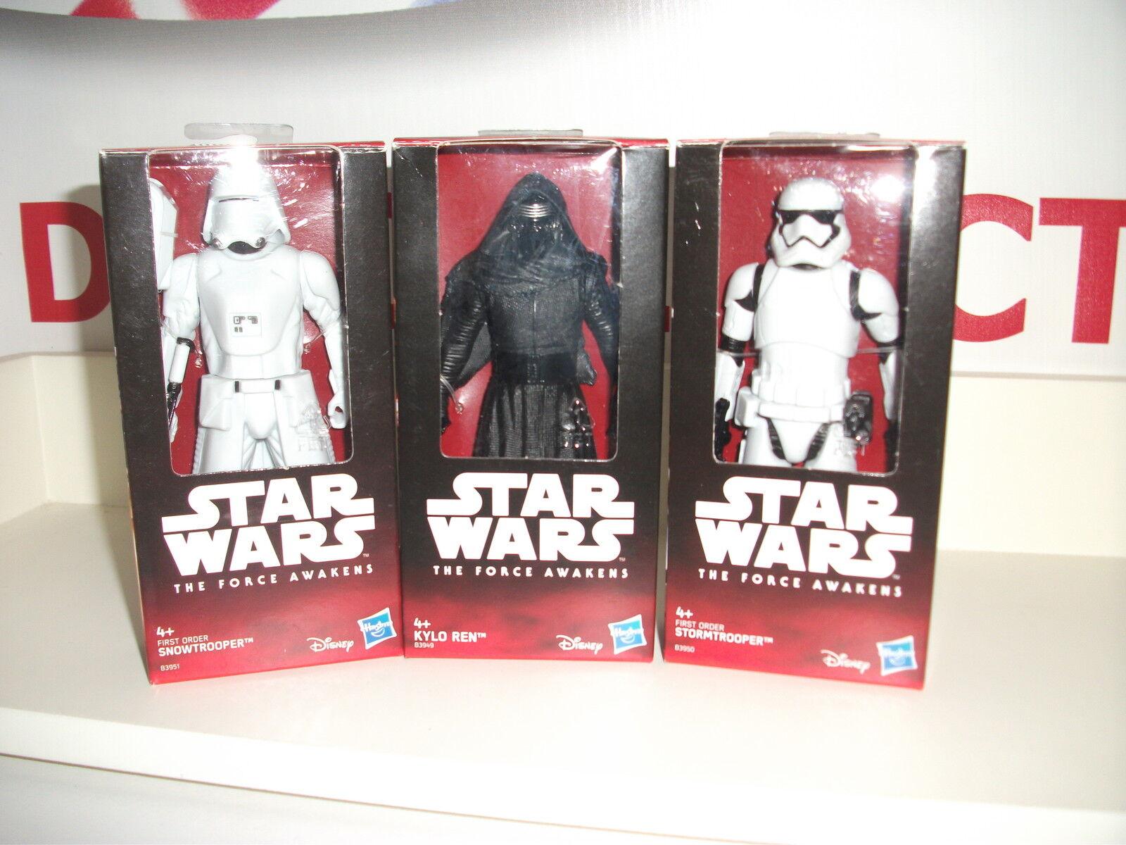 Star wars SNOWTROOPER,KYLO REN & STORMTROOPER 5  the force awakens NEW IN BOX