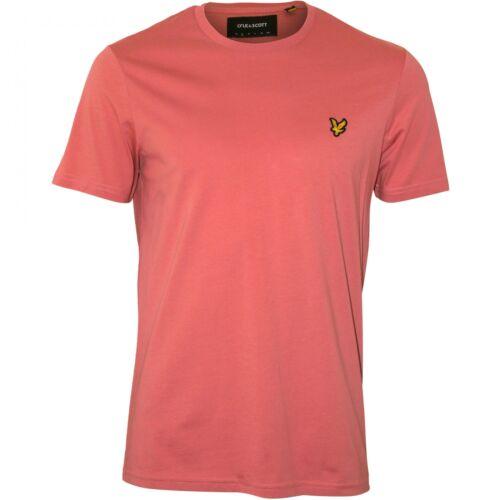 Lyle /& Scott à encolure ras-du-cou classique tee-shirt Homme Rose Ombre