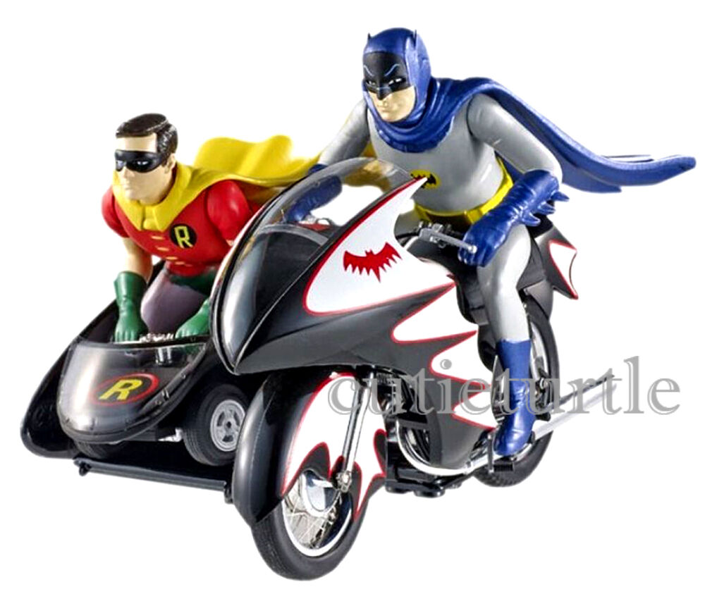 Hot Wheels série TV Classique 1966 Batcycle W Batman & Robin figures 1 12 CMC85
