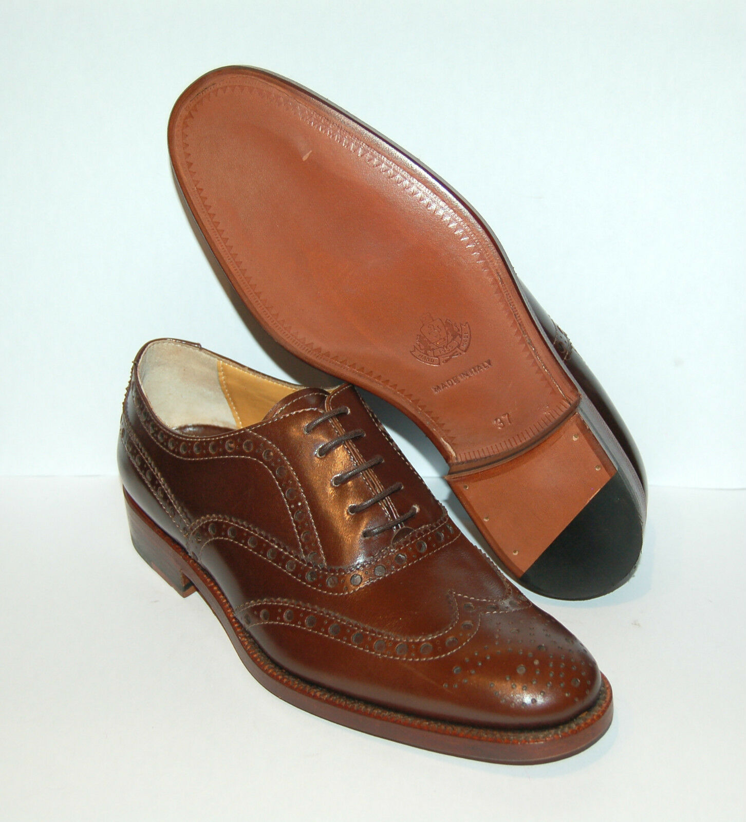 WOMAN PERFS -36- WINGTIP OXFORD - PERFS WOMAN & MED - BROWN CALF - LEATHER SOLE 685a3a
