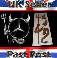 Mercedes Benz Sprinter 3D Dome Devil Demon Car Sticker Decal Badge Silver Chrome