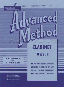 Raisonnable Rubank Advanced Méthode Pour Clarinette Volume 1 Partitions Livre Apprendre à Jouer-afficher Le Titre D'origine TrèS Poli