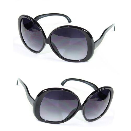 Huge Extra Oversized Large Womens Retro Vintage Round Sunglasses Black u
