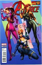 A-FORCE #1 J. SCOTT CAMPBELL VARIANT 1:20 Marvel Comics '92 Rare HTF VF