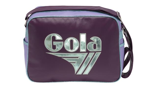 58d27759e792 Gola Mirror Metallic Shoulder Messenger Bag - CUB096 Aubergine   Mint    Violet