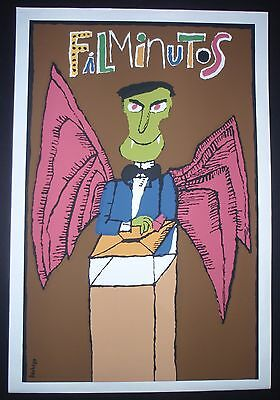 1 Day Sale VAMPIRE Cuban Silkscreen Poster Salutes Short-Subject Movies in Cuba