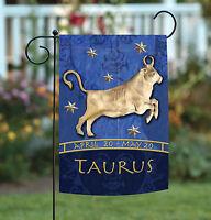 Toland - Zodiac Taurus - Blue Astrological Horoscope Bull Garden Flag