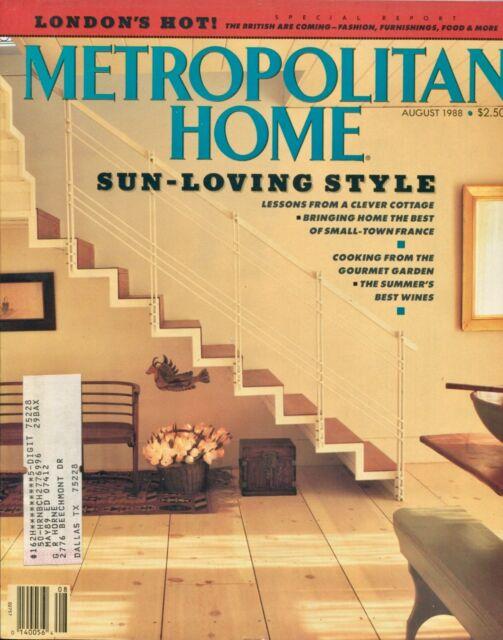 METROPOLITAN HOME MAGAZINE ~~ August 1988 ~~ 8/88 ~~ G-5-2 ...