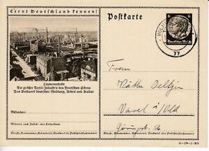 German-Reich-Stationery-P-236-Litzmannstadt-Textile-Industry-Oo