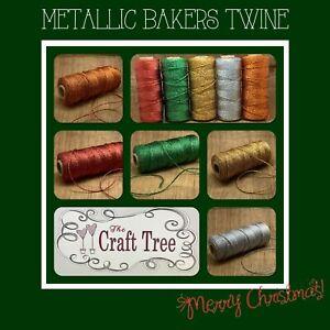 Metallic Bakers Twine / String / Cord 2mm width -- Various lengths