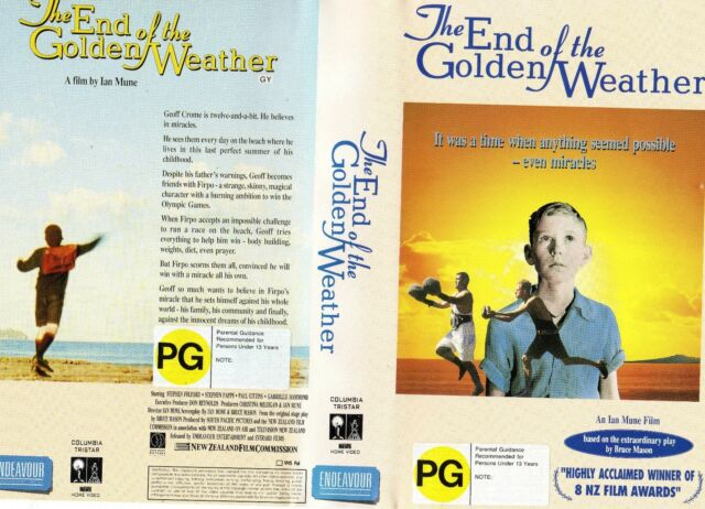 THE END OF THE GOLDEN WEATHER -VHS -PAL -NEW -Never played! -Original NZ release