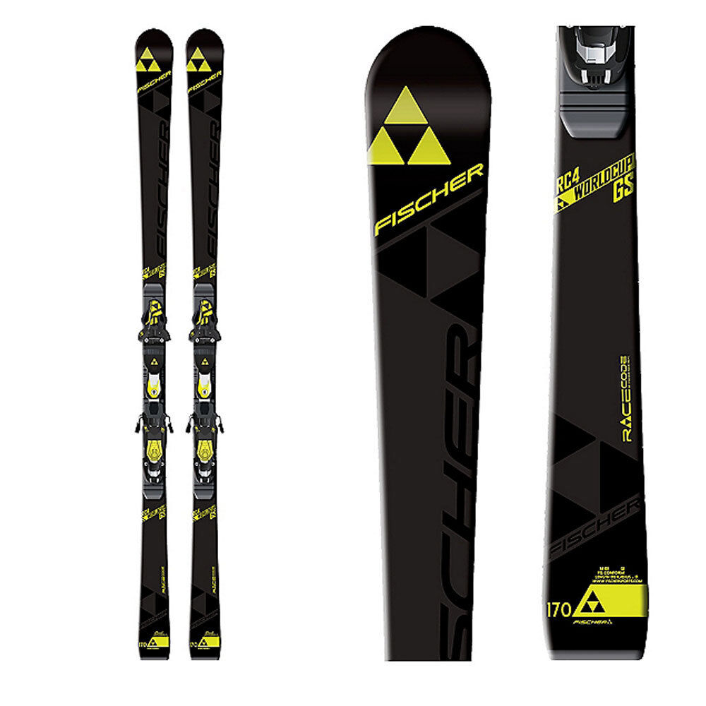 2017 Fischer RC4 WC GS JR 160cm skis with race plate (no bindings) A10016