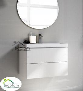 Fesselnd Das Bild Wird Geladen Badmoebel Waschbecken Schrank  Haengend 50 Cm Schubladen Push