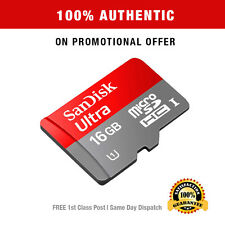 Genuine SanDisk Ultra 16GB Micro SD Card 80MBs Class 10 SDHC Memory Card Adapter