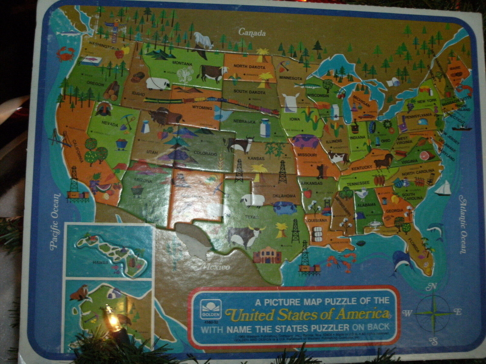 Encyclopedia britannica talking usa map puzzle