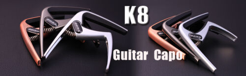 Two pcs Brush Copper Electric Acoustic Guitar Quick Change Tune Key Capo ClampK8