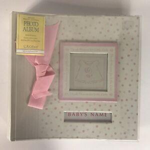 C.R. Gibson Baby Girls Photo Album~ Bound Photo Journal Pink