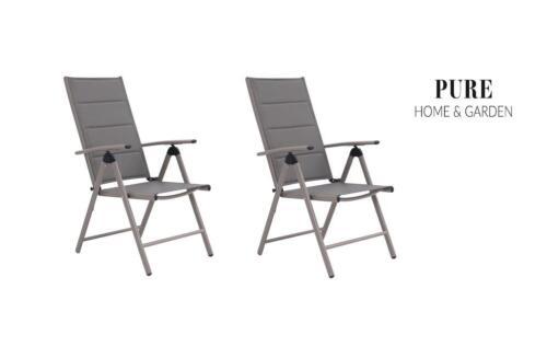 2x Pliante Fauteuil BOLERO Champion Padded fauteuil chaise pliante mobilier de jardin chaise de jardin
