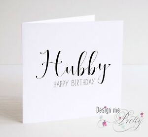 Image Is Loading HAPPY BIRTHDAY HUBBY Cute Husband Nickname Birthday Card