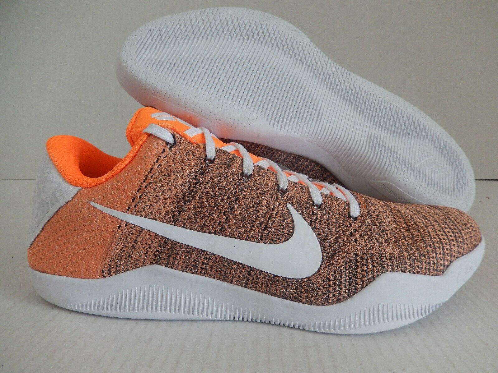 Nike Kobe XI 11 elite reducción id baja Flyknit Negro-Naranja-Blanco reducción elite de precios estacionales de recortes de precios, beneficios de descuentos 4285a1