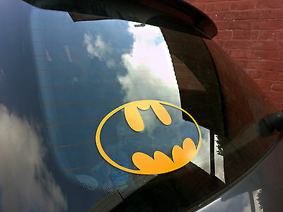 BATMAN LOGO NOVELTY CAR/VAN/MOTORBIKE, LAPTOP, SKATEBOARD VINYL DECAL STICKER