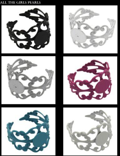 box49 6 Colores Disponibles. 4 Filigrana Anillo Blanks