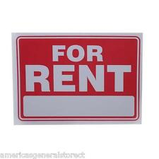 For Rent Red Amp White 9 X 12 Flexible Plastic Sign Apartment House Condo Store