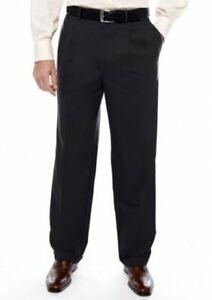 0cd3b1e5 Details about Perfect Ralph Lauren 100% Wool Black Slacks Men's 38 W Inseam  31.5 Pleats Cuffs