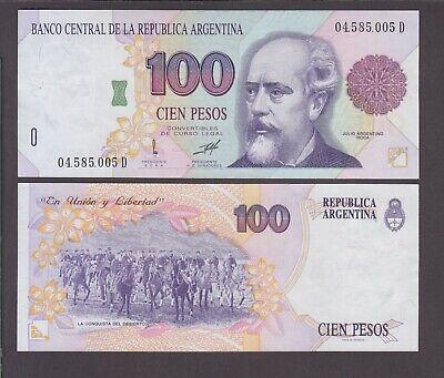 Argentina P.345b  Col 753b 100 Pesos sfx D sig Pou-Ruckauf UNC   We Combine