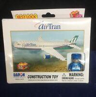 Daron Airtran Airplane 55 Piece Construction Toy Best Lock