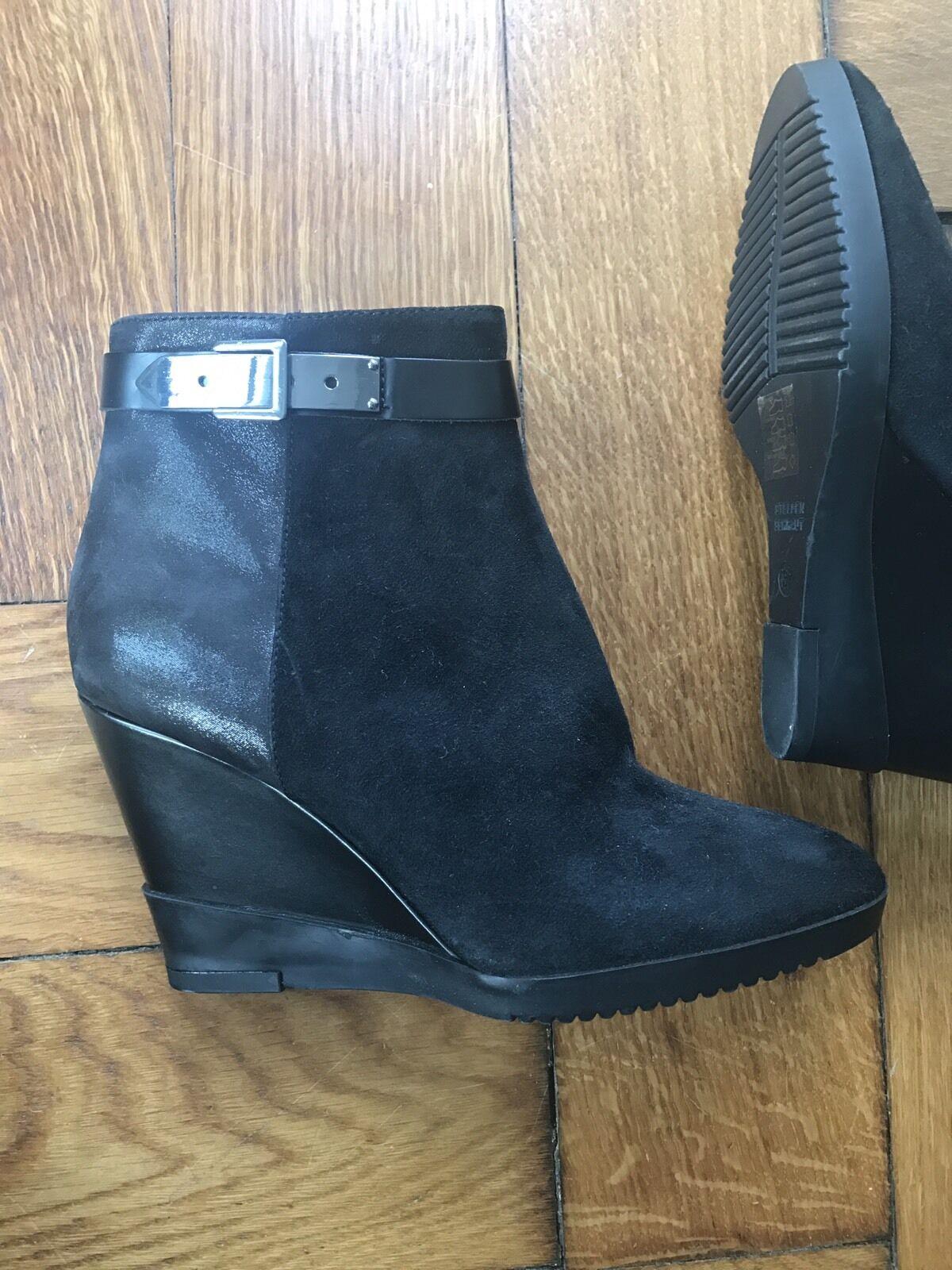 STEFFEN SCHRAUT Schuhe, Plateau, Stiefel, Booties, Schwarz, 37, wie Neu