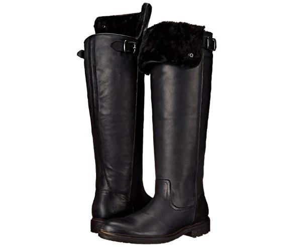 negozio a basso costo Frye Mara Button Genuine Shearling Tall nero nero nero Leather avvio 3476748 T40 Sz 6.5  fino al 65% di sconto