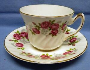 fine bone china Staffordshire made in England Royal Sutherland teacup and saucer