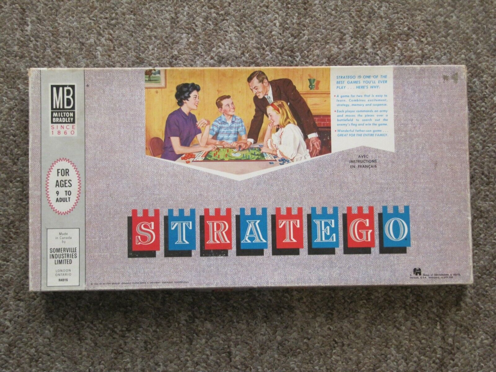 1962 STRATEGO. RARE Canadian Issue. French & English. COMPLETE.