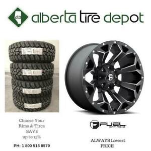 SALE FUEL Off-Road Assault - D546 Black and Milled FUEL OffRoad Fuel Off Road Rims Wheels Tires Alberta Preview