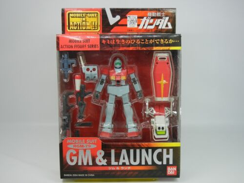 """MSIA Mobile Suit In Action! /"""" RGM-79 GM /& LAUNCH /""""  Action Figure Bandai  MIA"""